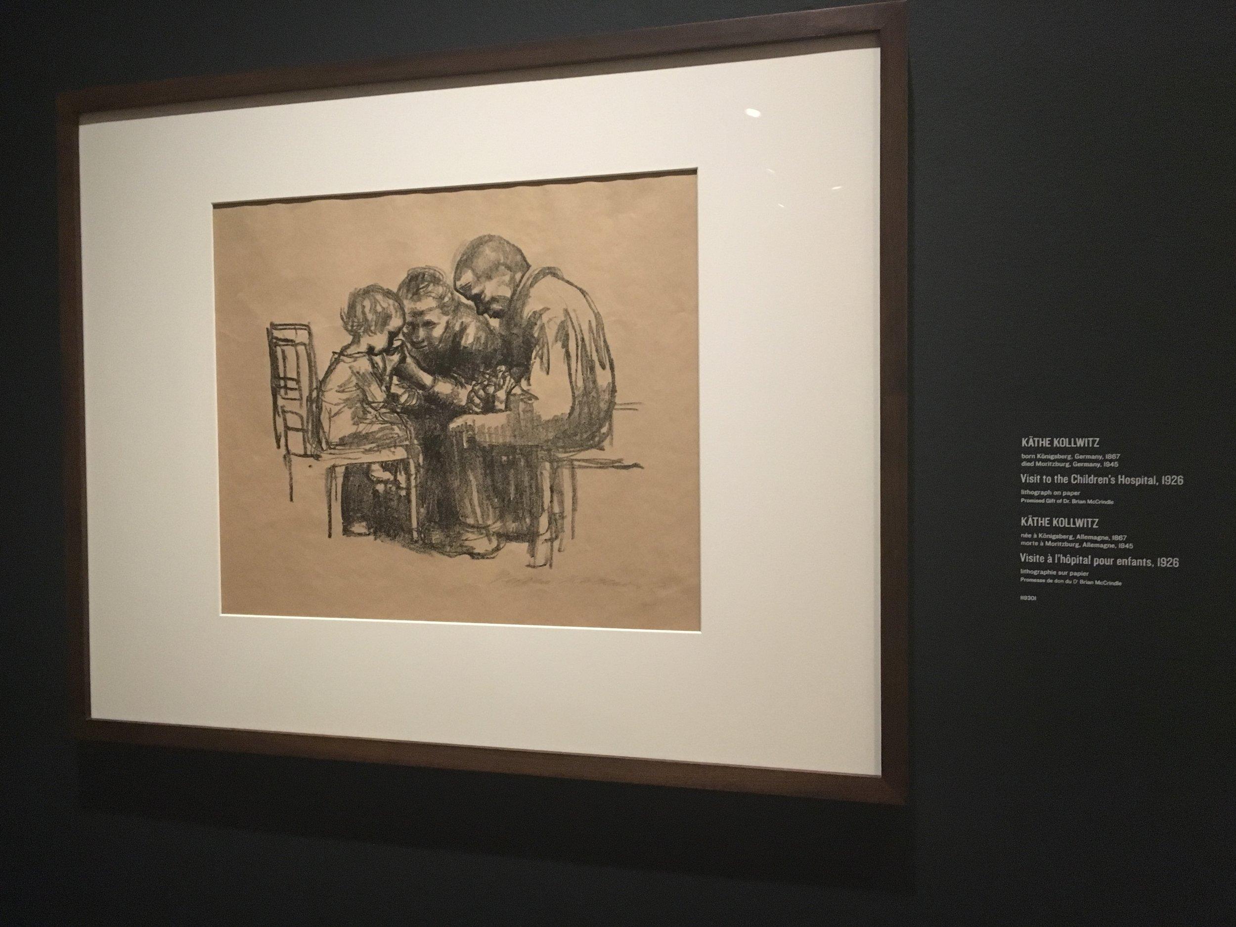 """Visit to the children's hospital"" 1926 by Katie Kollwitz"