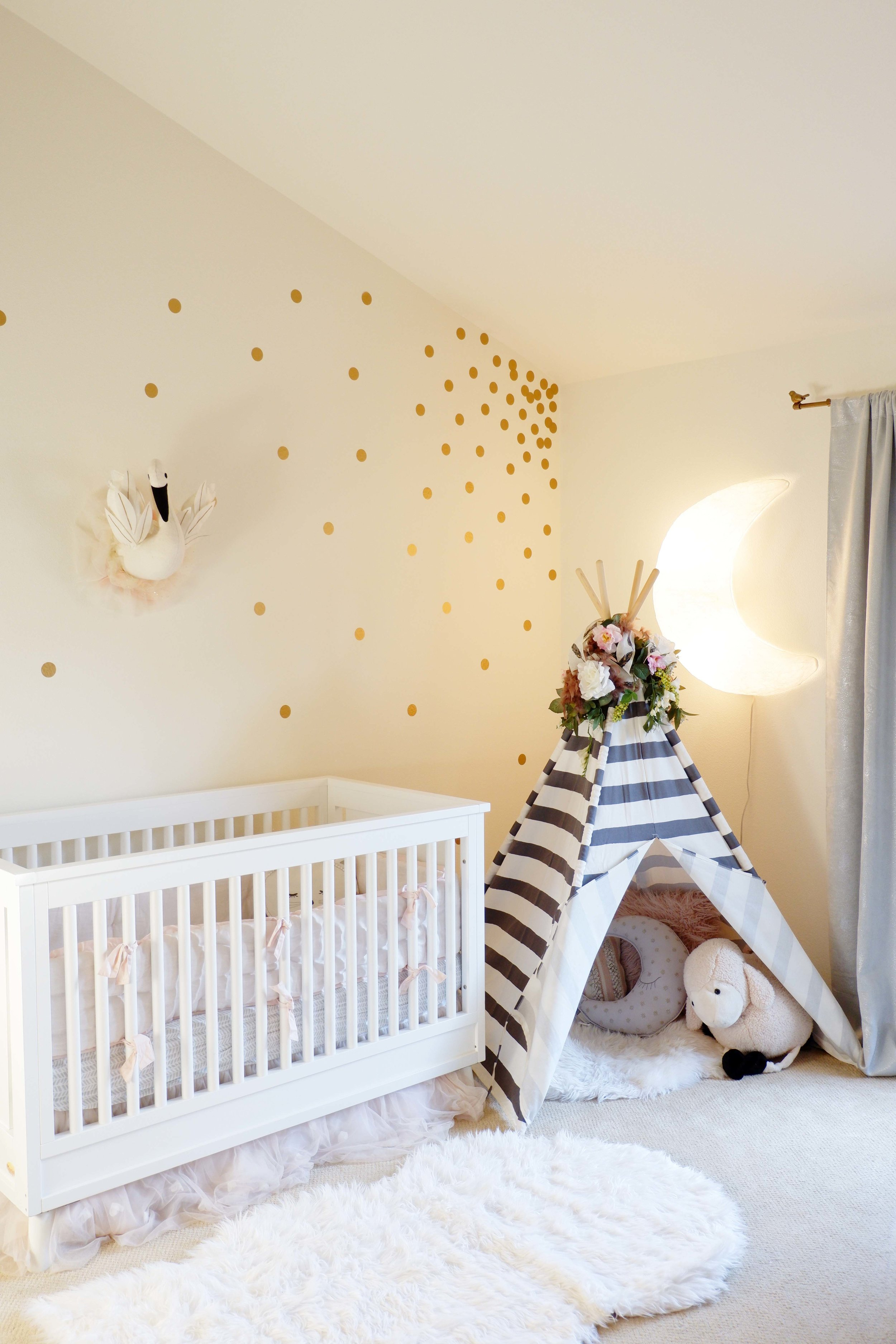 Blush And Gold Nursery For Sweet Baby