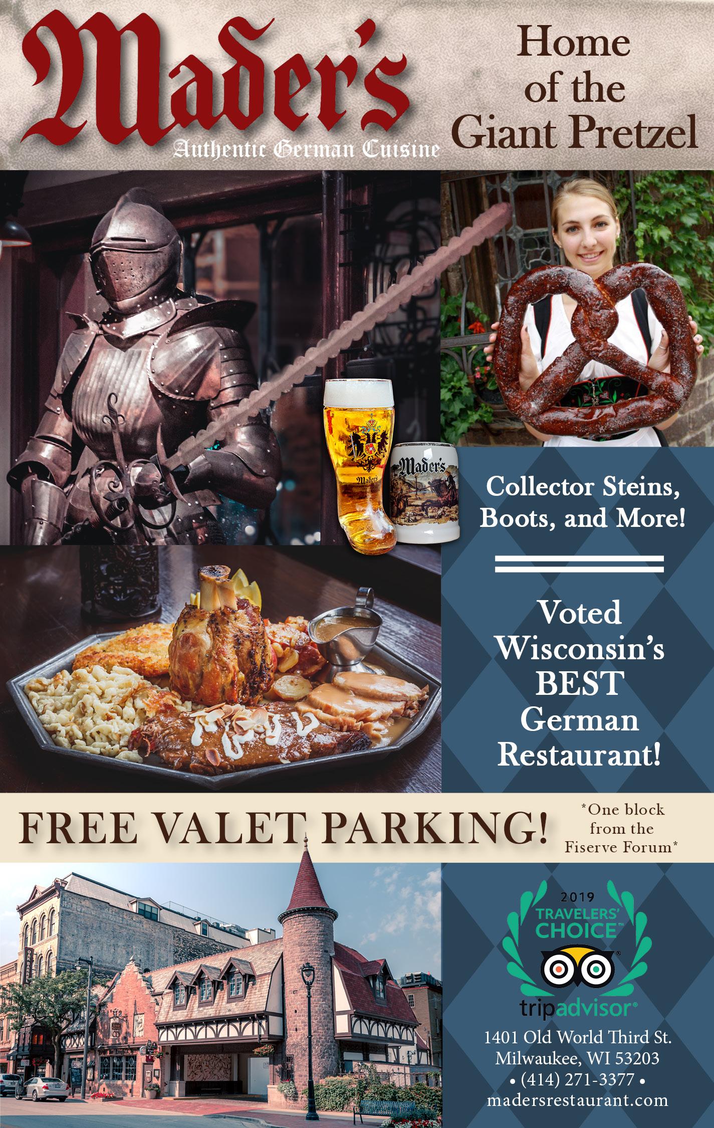 Mader's Famous German Restaurant - Key Milwaukee Magazine