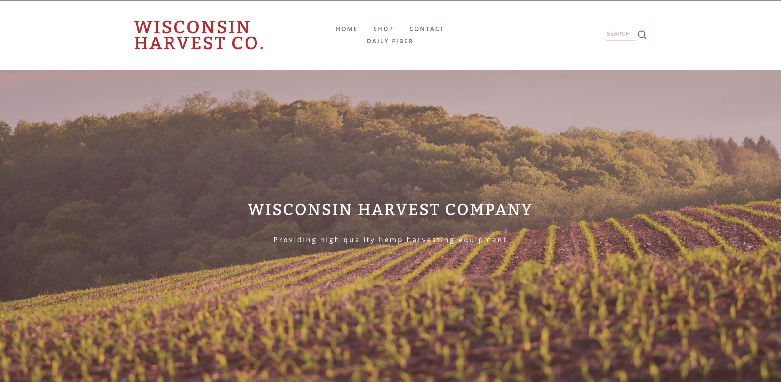 WI Harvest Co - •Website Development