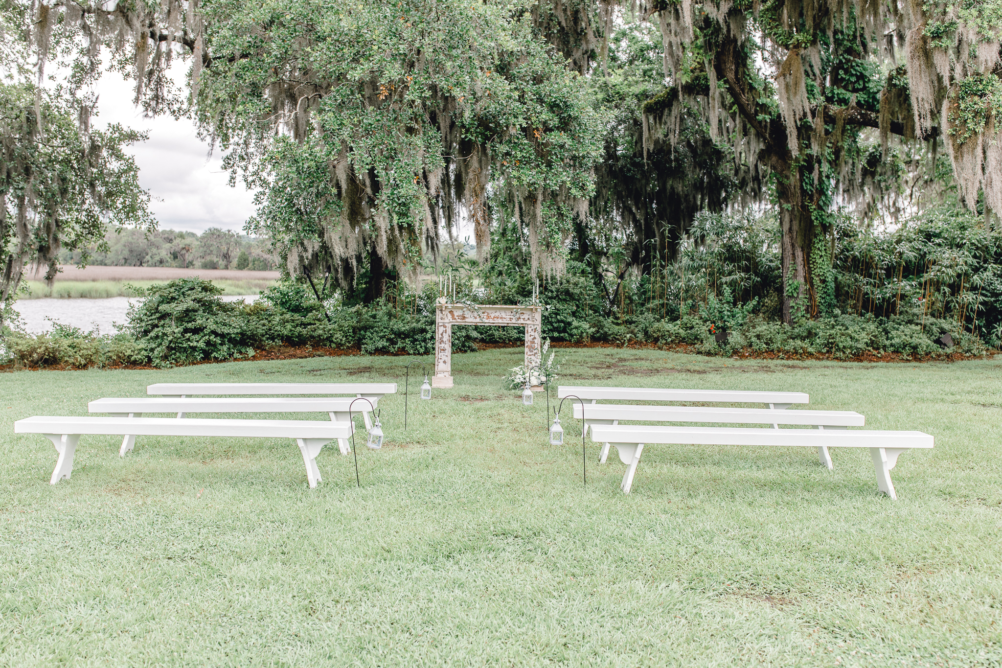 outdoor ceremony plantation wedding charleston