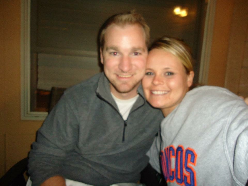 The night he proposed to me, cell phone photo and blurry, but the only one we have from that night.