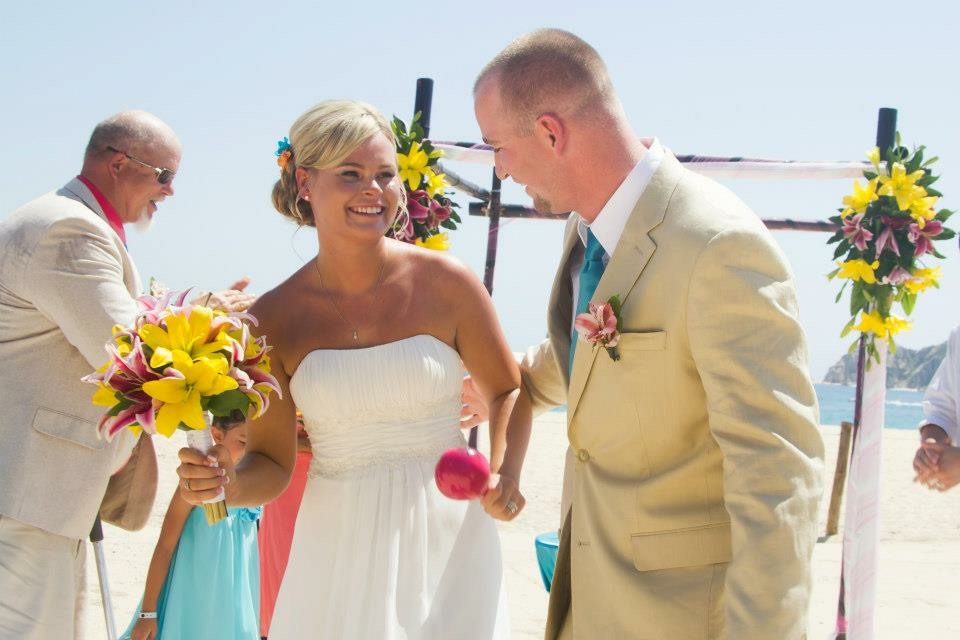 Our wedding day in Cabo San Lucas