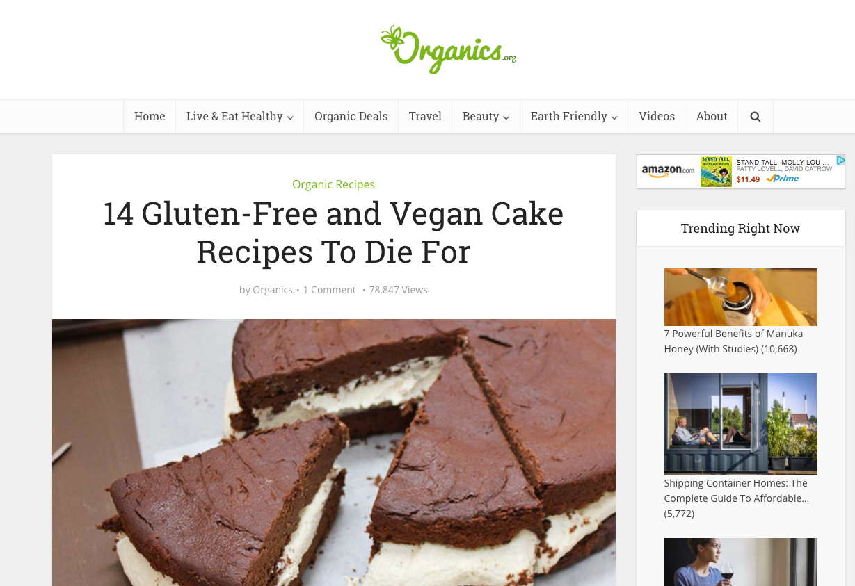 organics uses seo and empathy to boost their google ranking