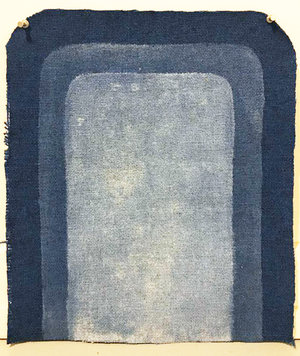 """(Church Pew Upholstery) """"Blue Entrance"""""""