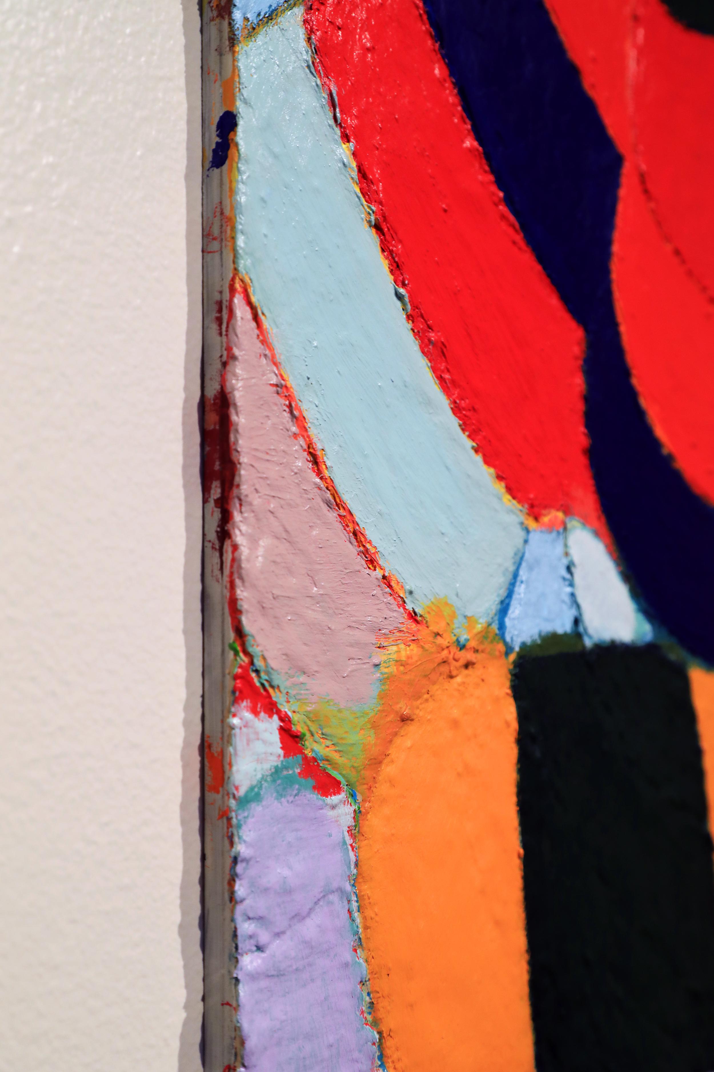 """[Detail] Douglas Degges. """"mike's socks."""" 2017. Acrylic on Panel."""