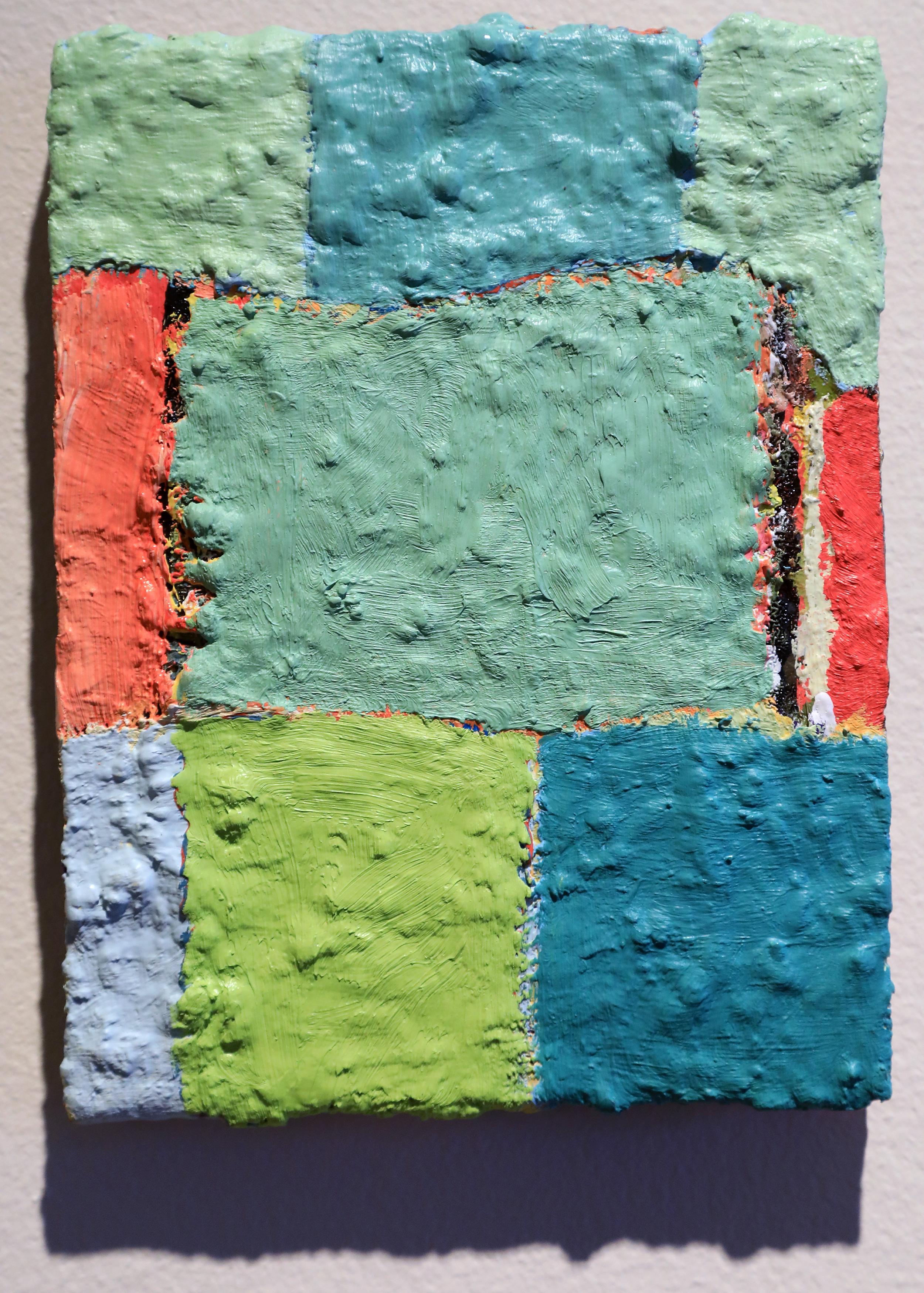 "Douglas Degges. ""Untitled."" 2017. Oil and Gypsum on Panel."