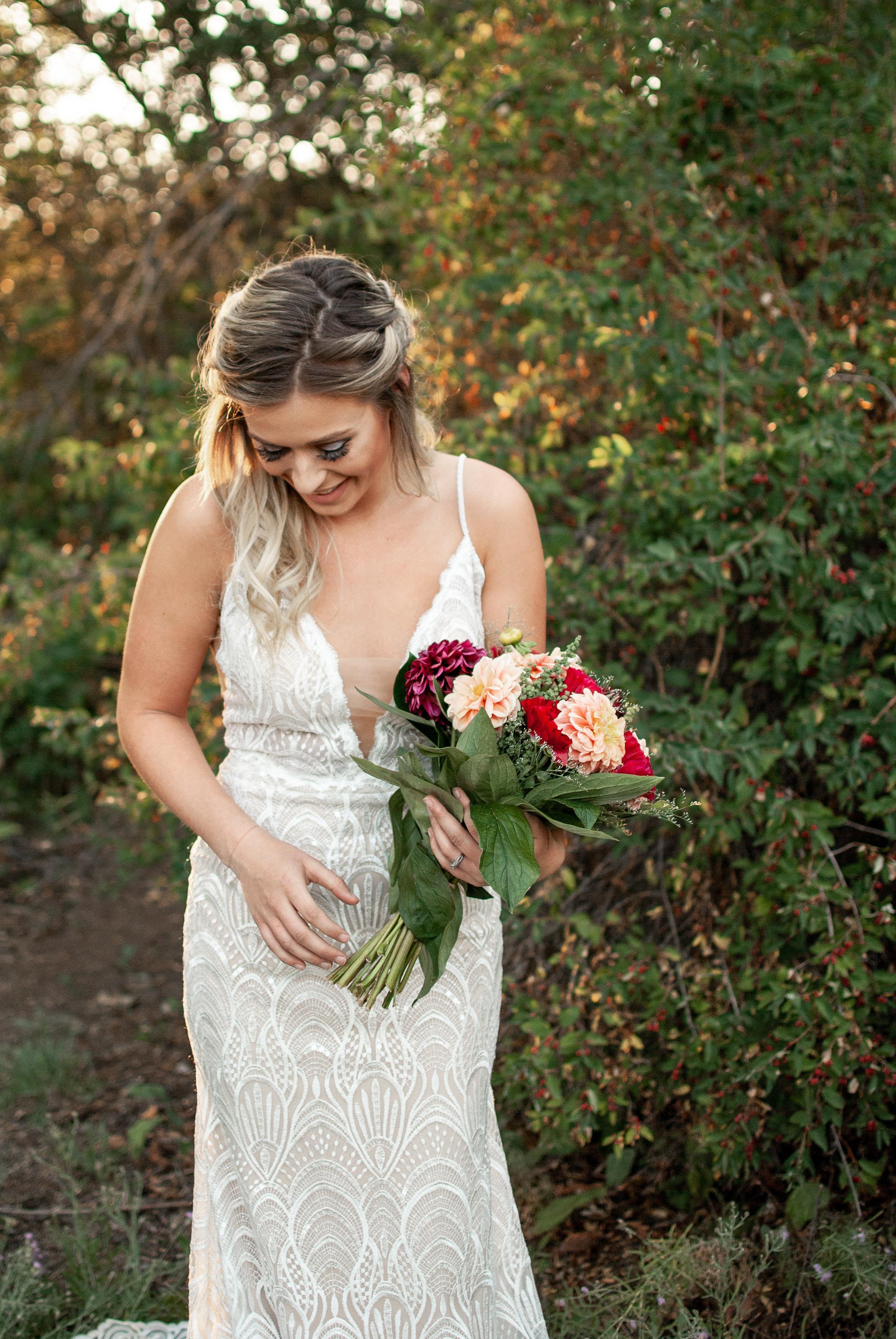 Spokane model in wedding dress sequin Honest in Ivory