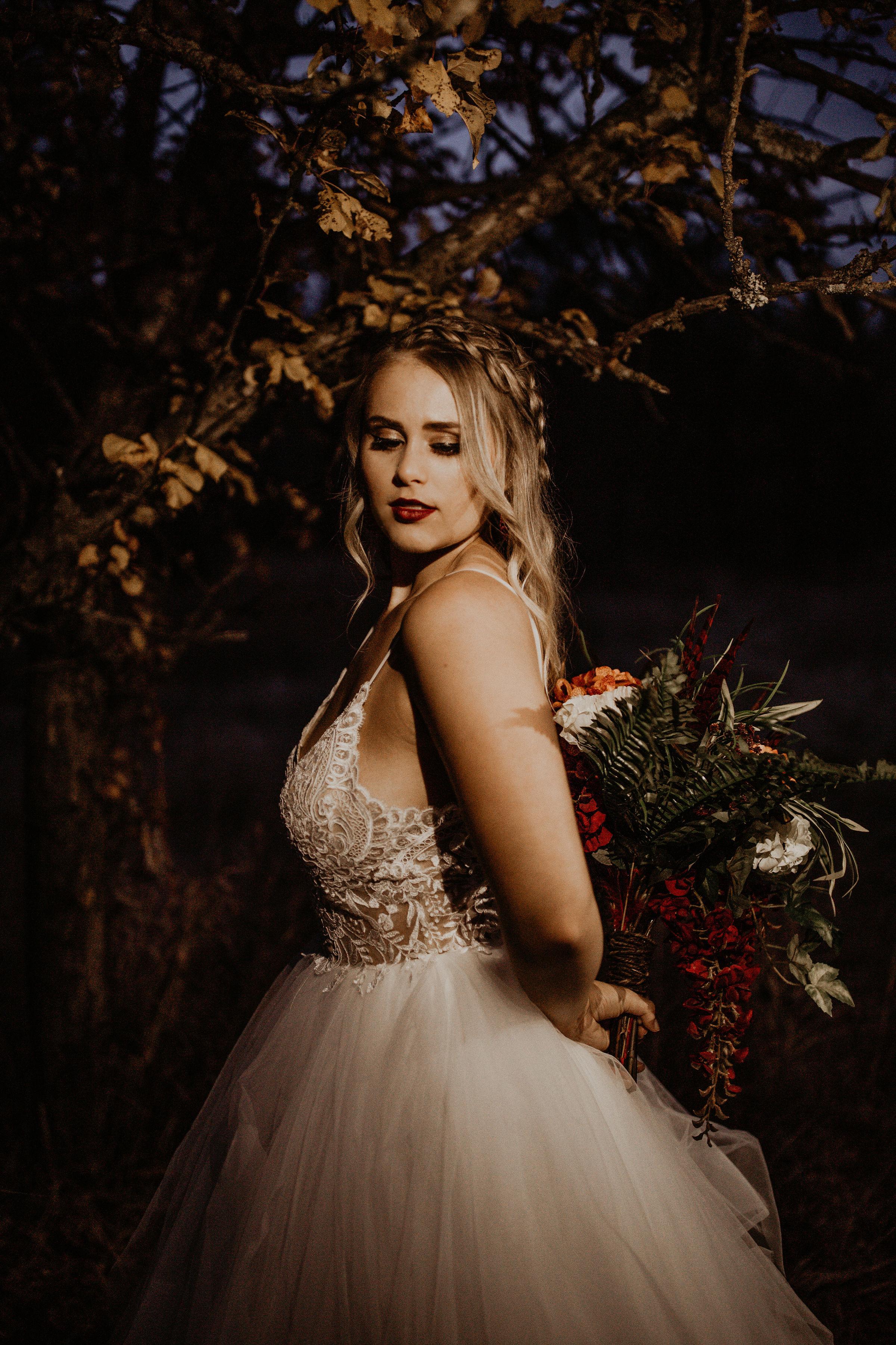 dark bridal image spokane