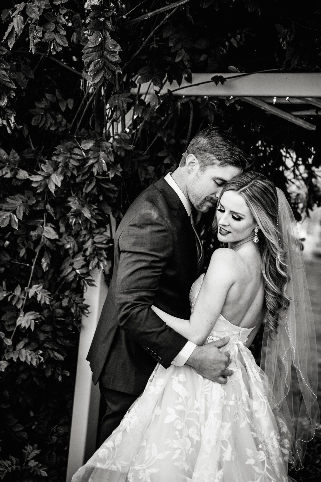 black and white wedding image real bride spokane