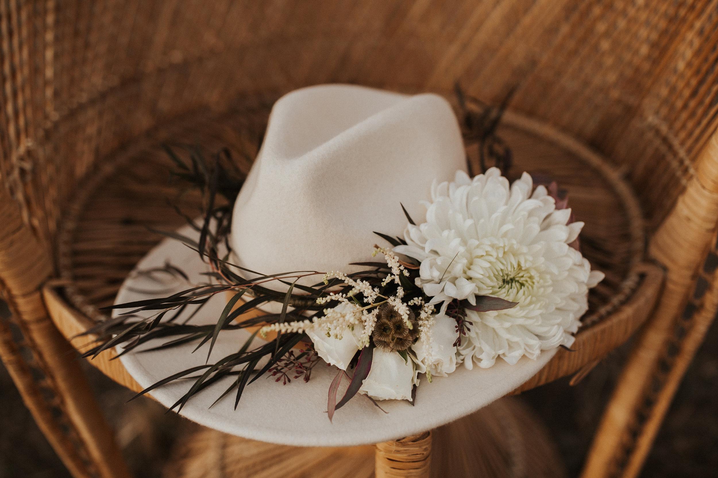 image of bridal hat wedding photo shoot spokane