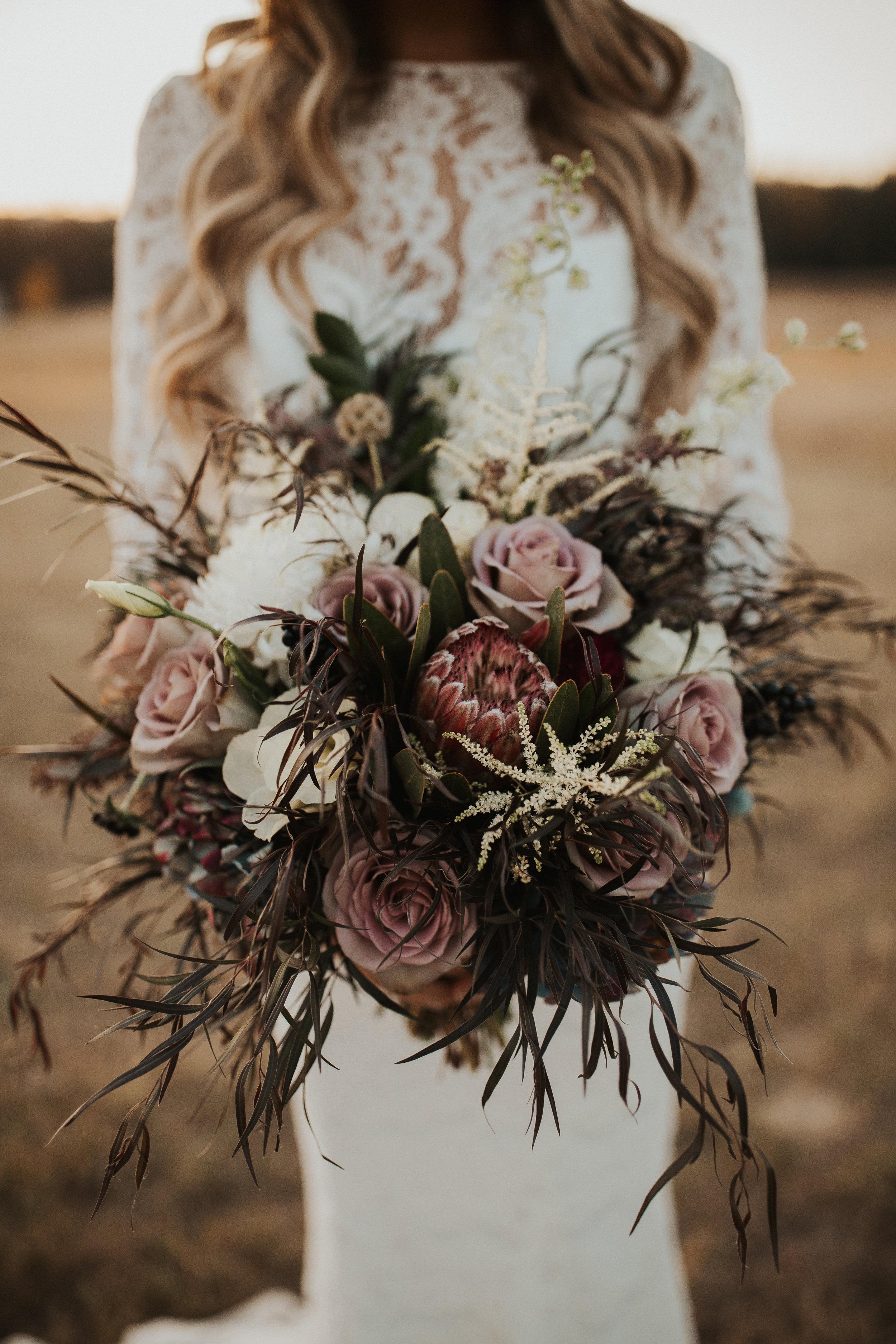 dusty rose floral bridal bouquet image