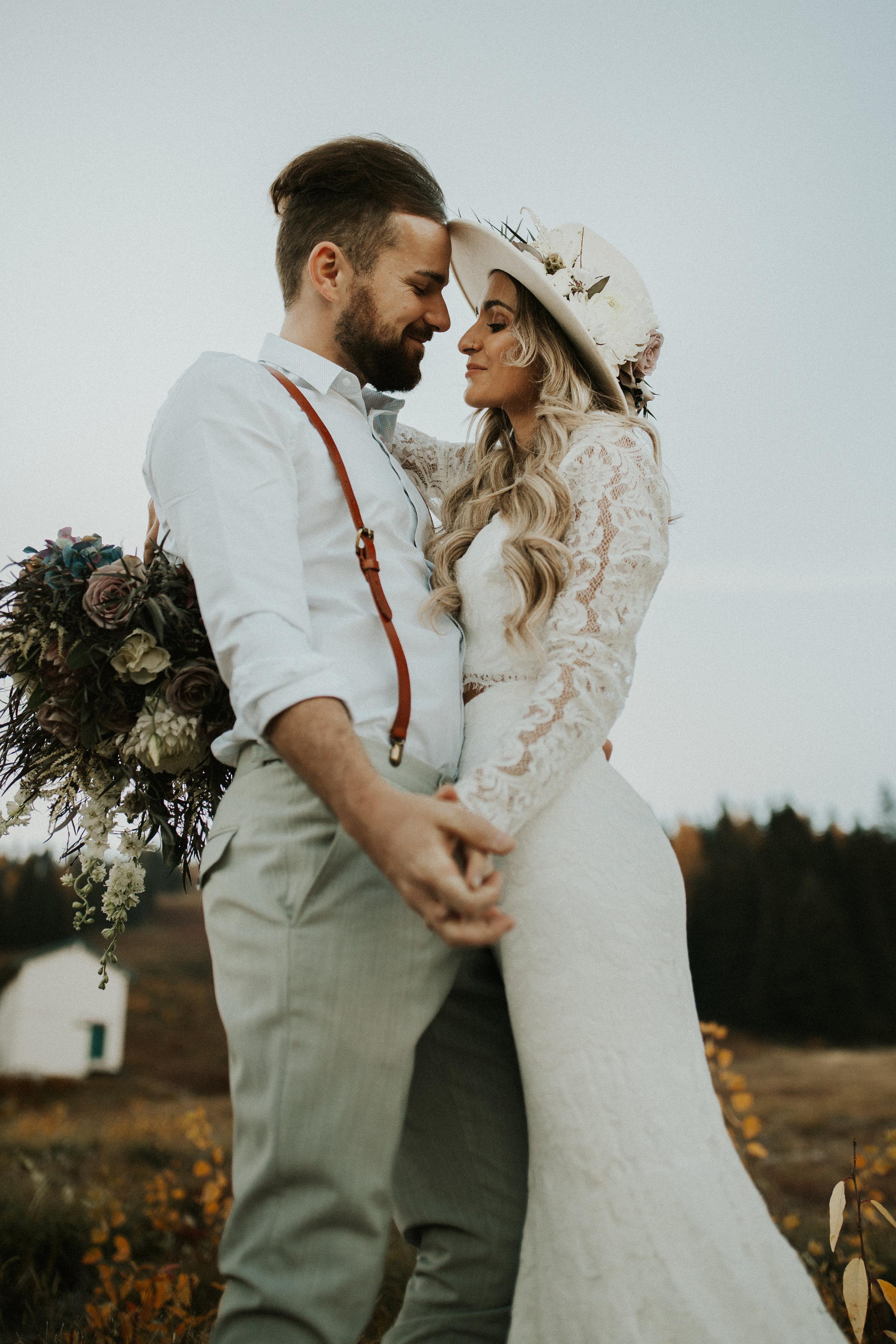 mt spokane wedding photo shoot image