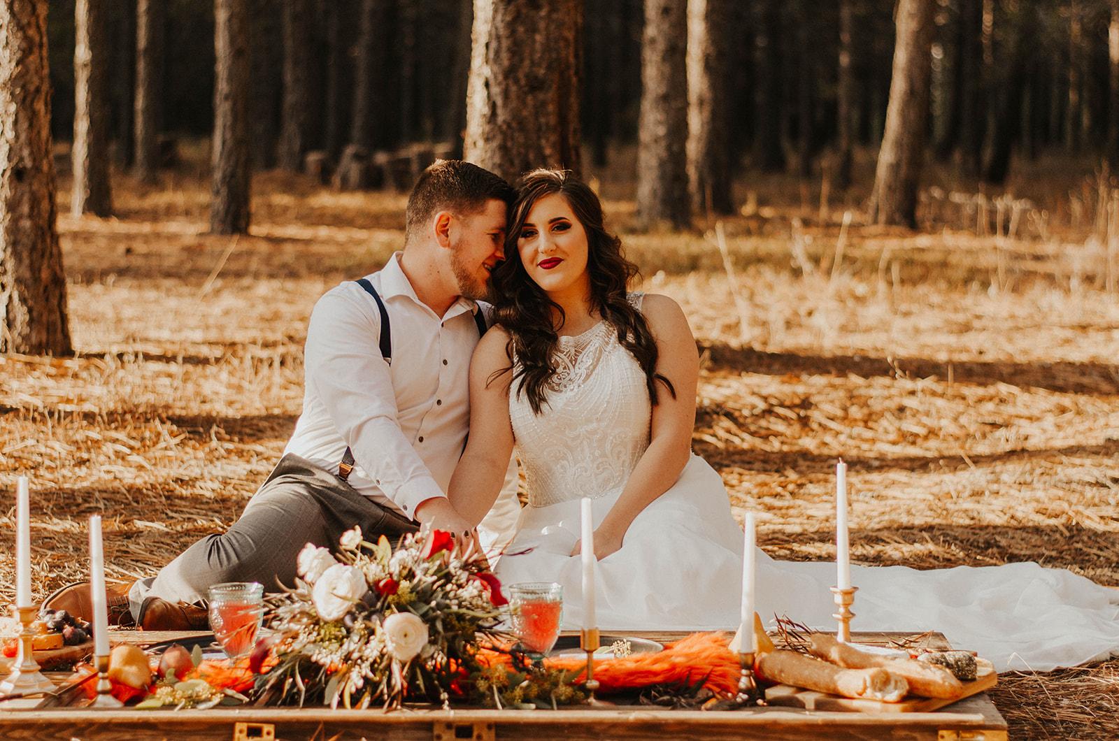 Spokane elopement wedding inspiration Foxwood house