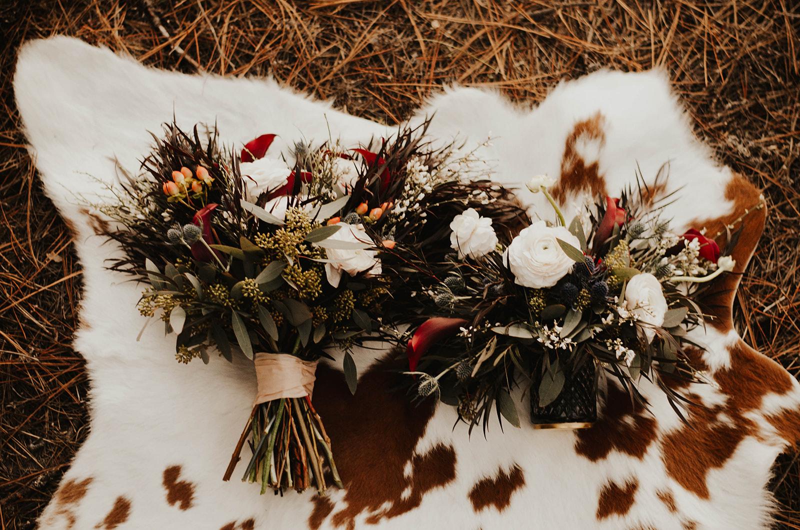 dark winter florals photoshoot spokane