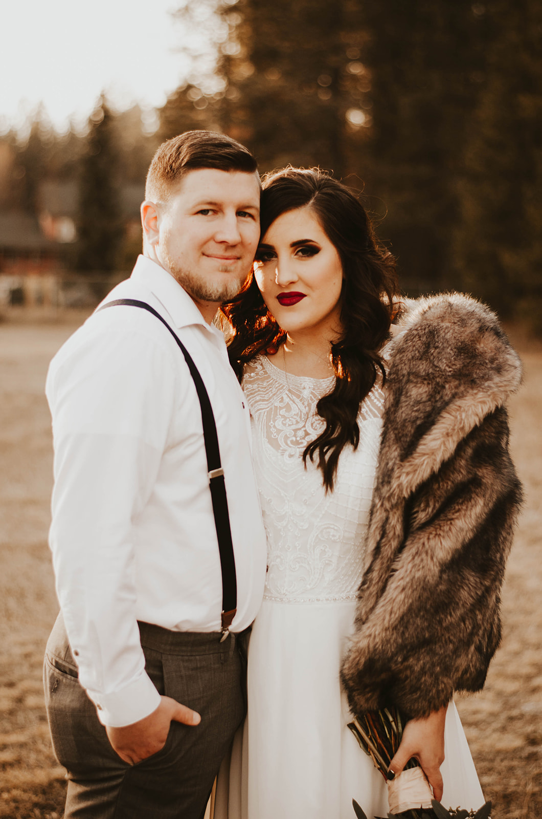 bride and groom wedding dress spokane