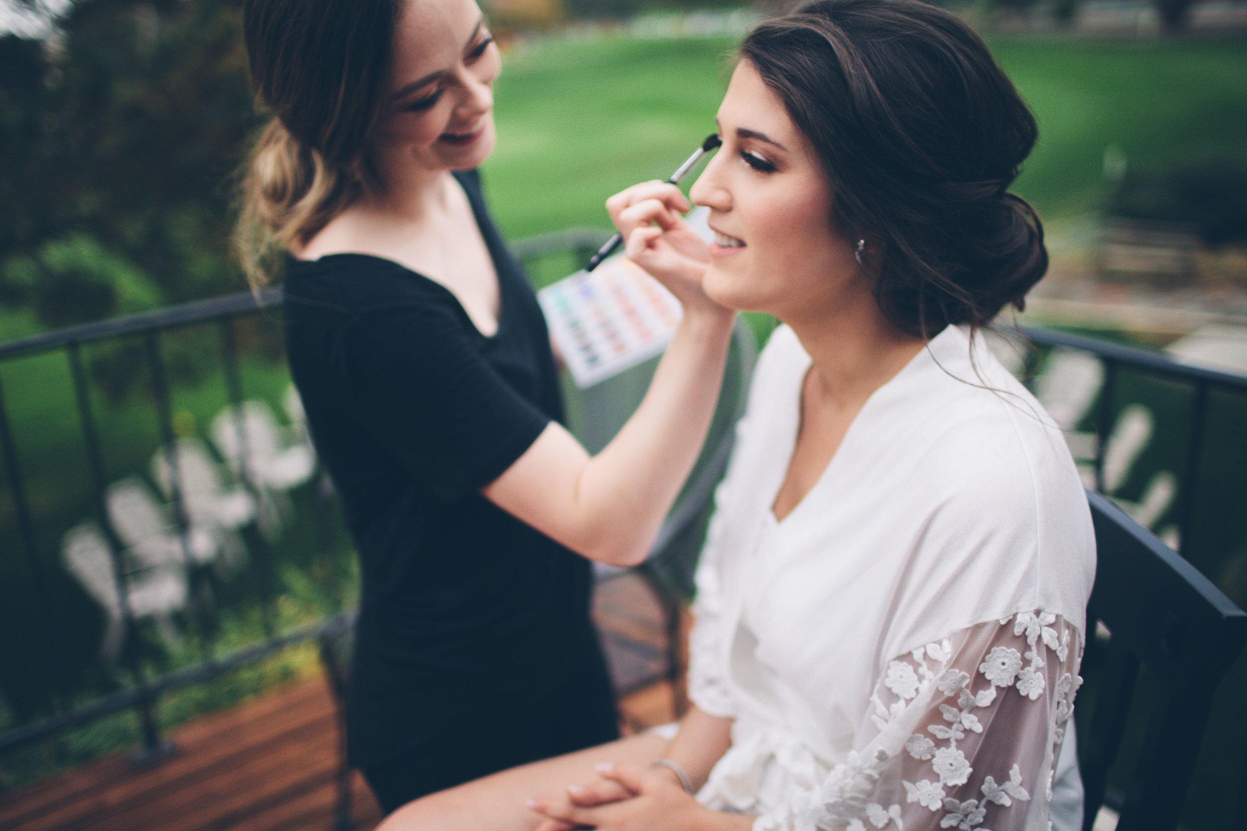 getting ready bride Spokane WA wedding