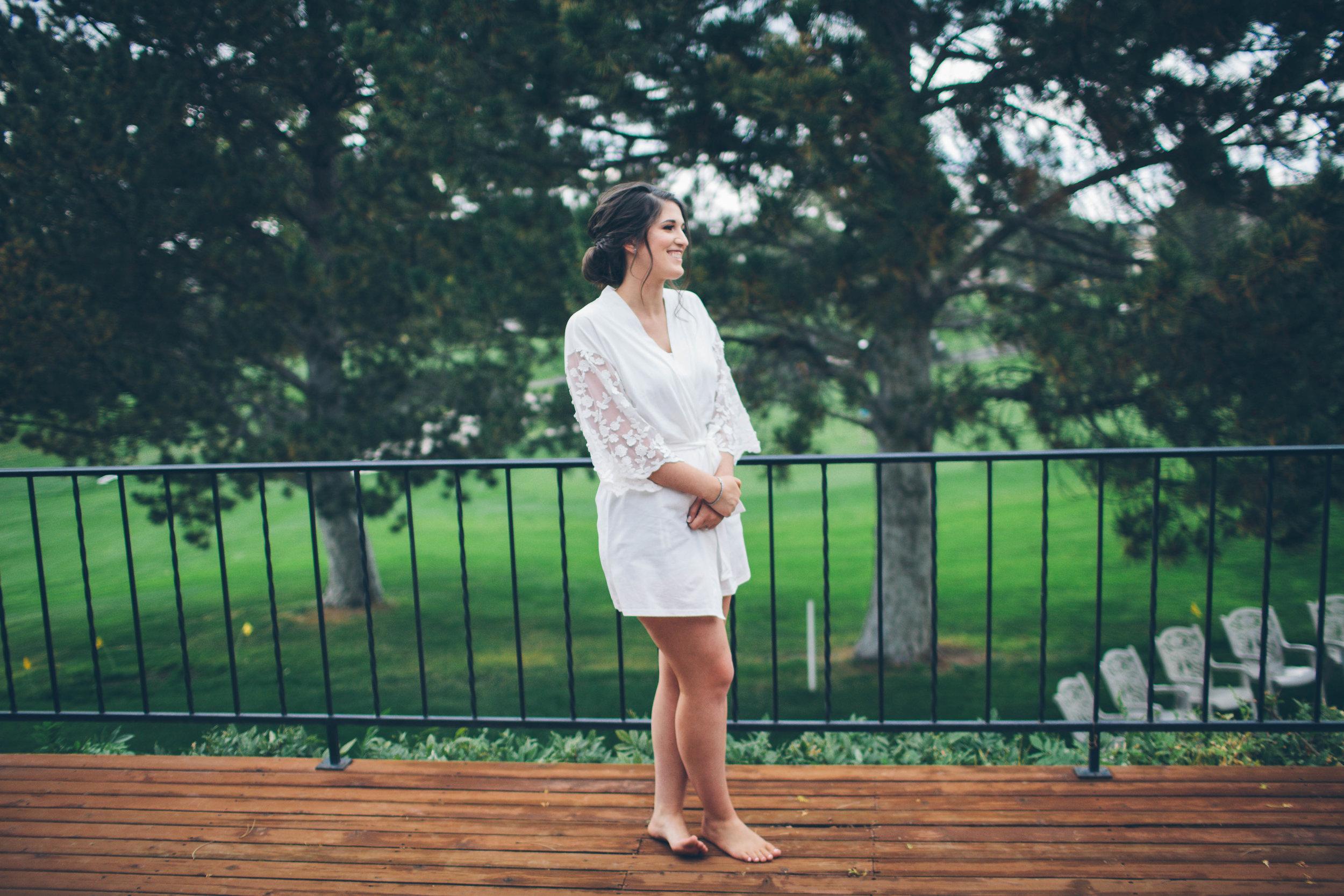 getting ready bridal robe spokane