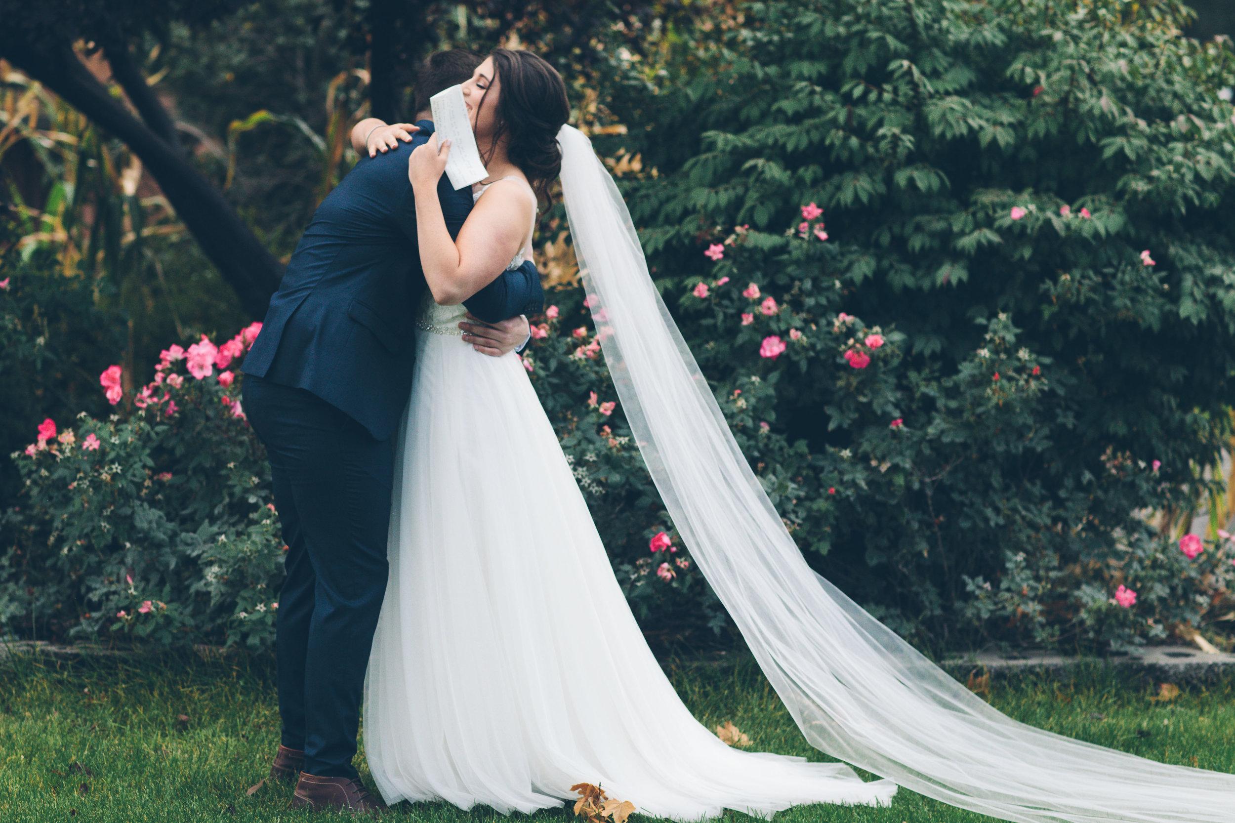 kissing dress reveal real wedding spokane