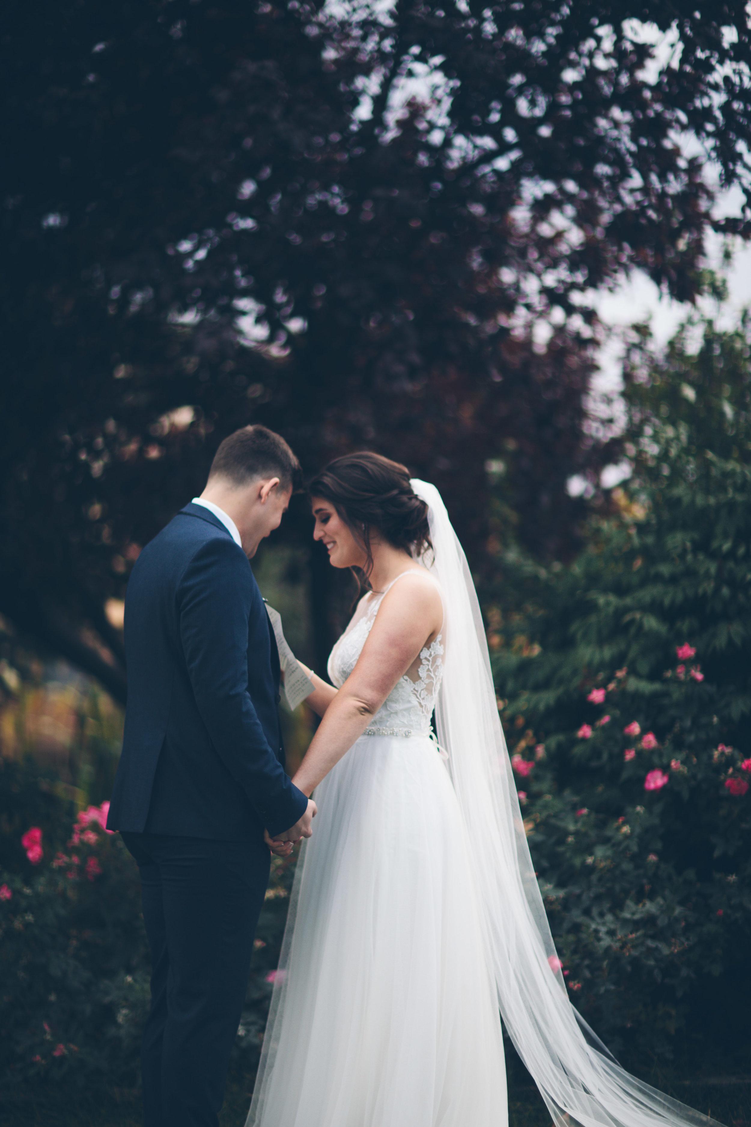 bride and groom real wedding