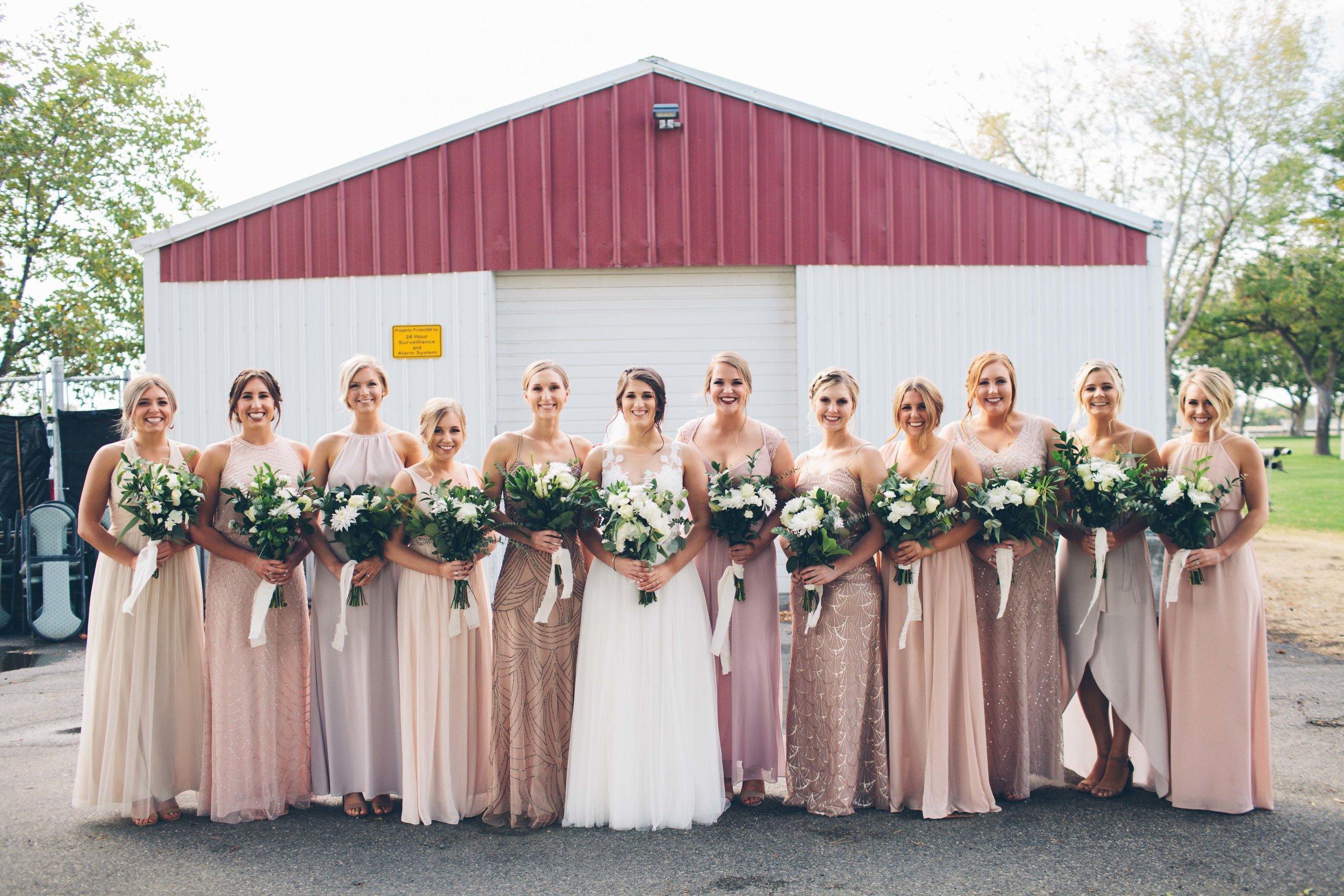 bridesmaids blush dresses spokane