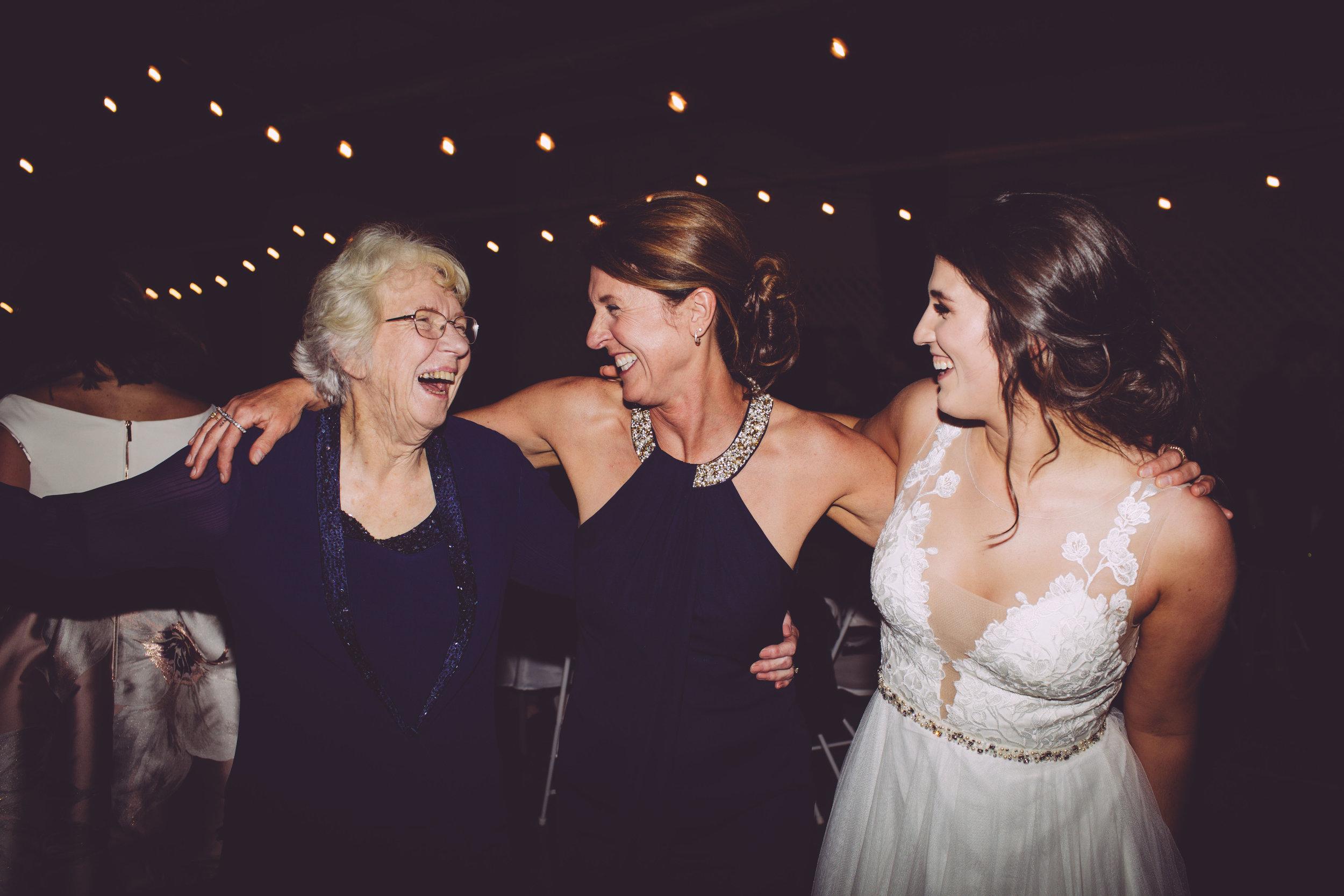 mother daughter grandma bride wedding reception spoke