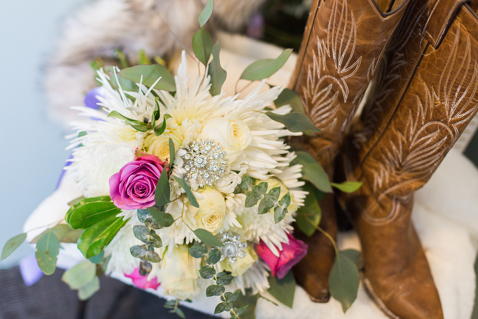 spokane wedding dress cowboy boots flowers