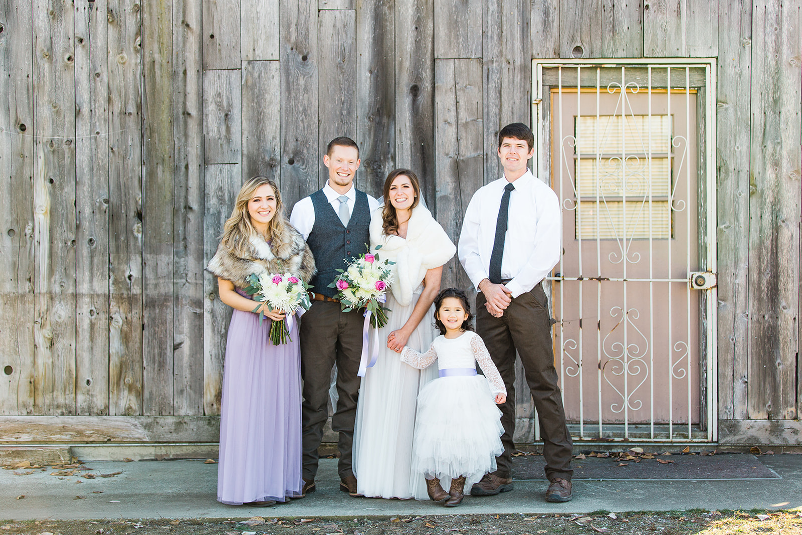 spokane wedding dress bridal party purple