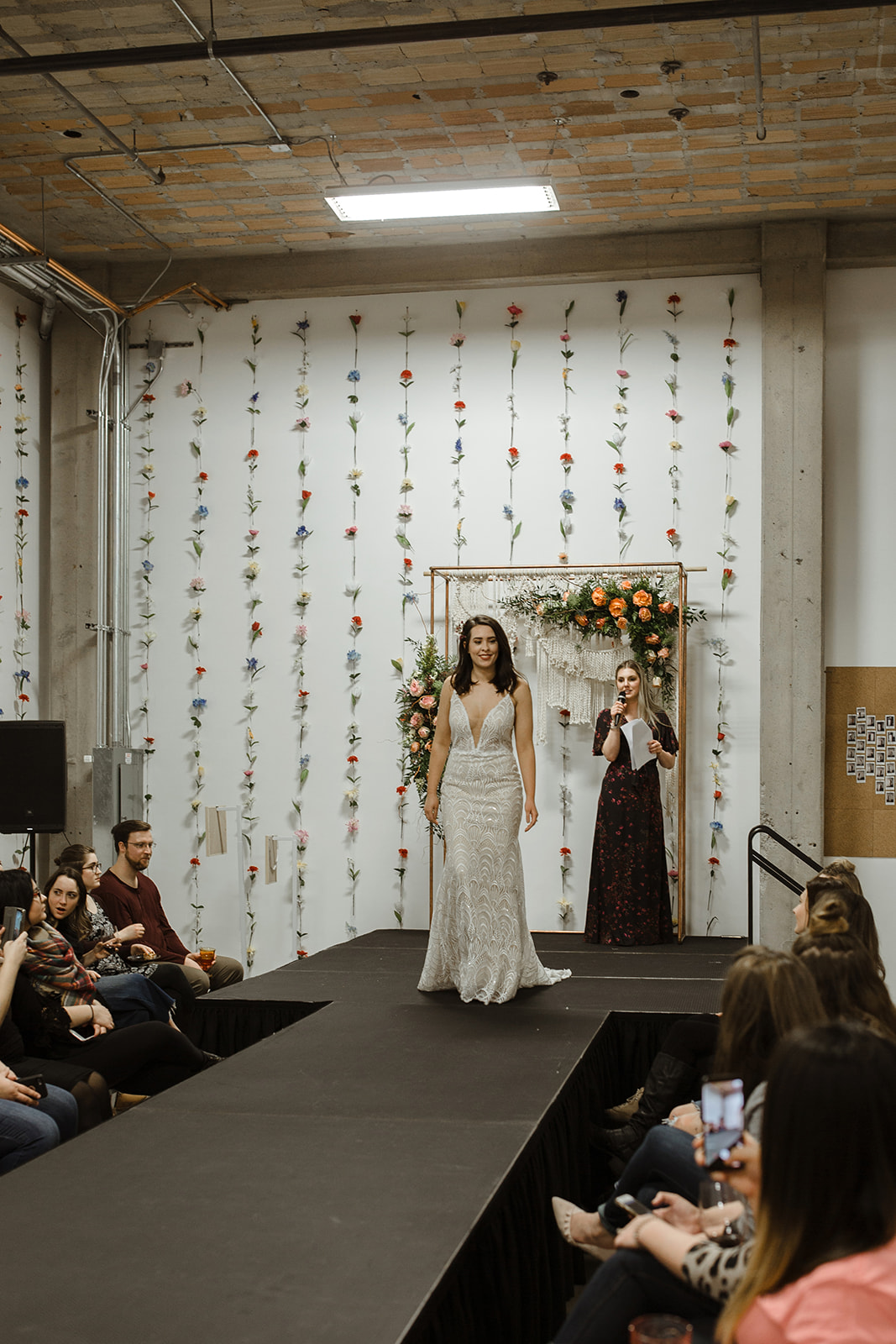 spokane wedding dress fashion show model and emcee