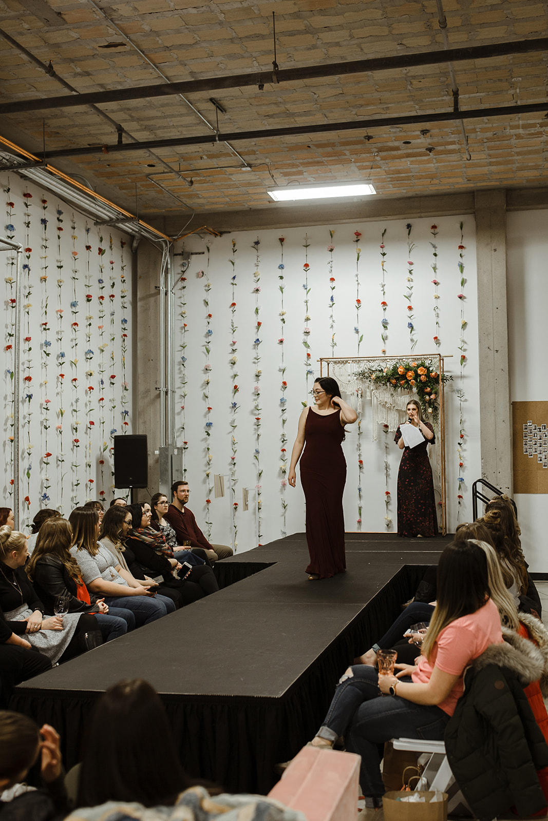 spokane wedding dress fashion show bridesmaid dark