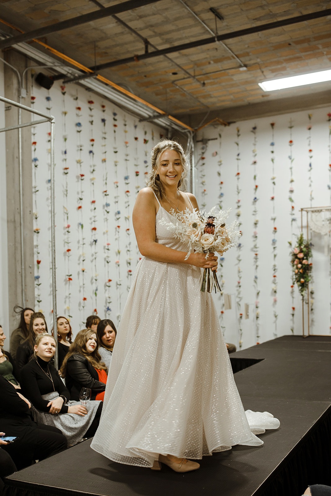 spokane wedding dress fashion show end of runway