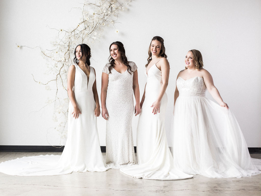 Group shot of brides in spokane