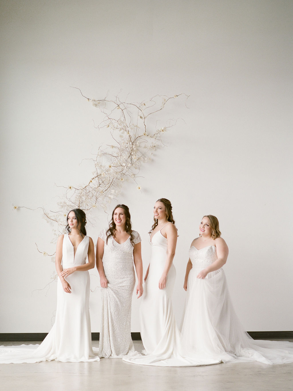 Group of brides spokane bridal shop
