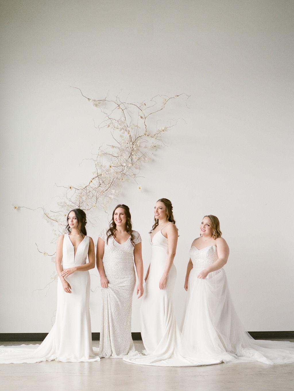 Group of brides spokane bridal shop