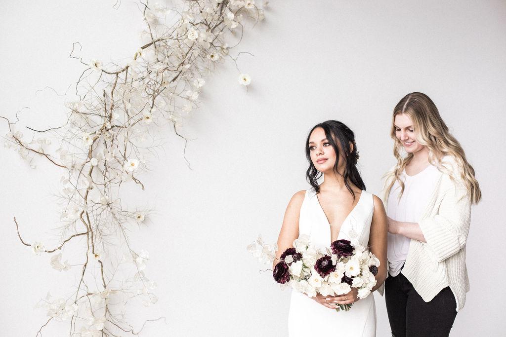 Owner zip up wedding dress winter bride spokane