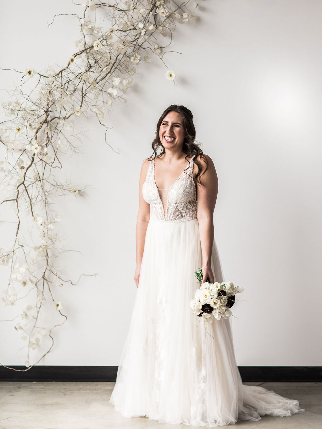 Romantic bridal wedding gown spokane