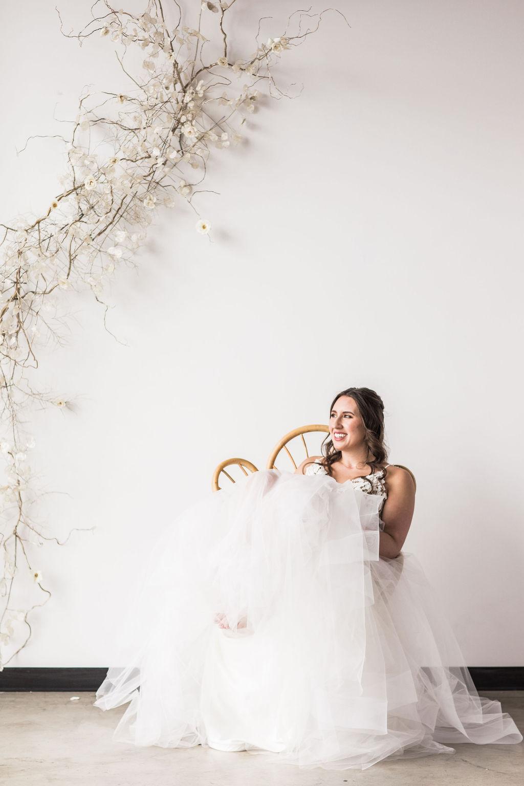 Peacock chair bridal wedding spokane