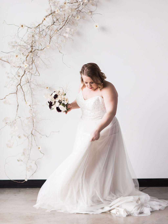 Plus size bride wedding spokane