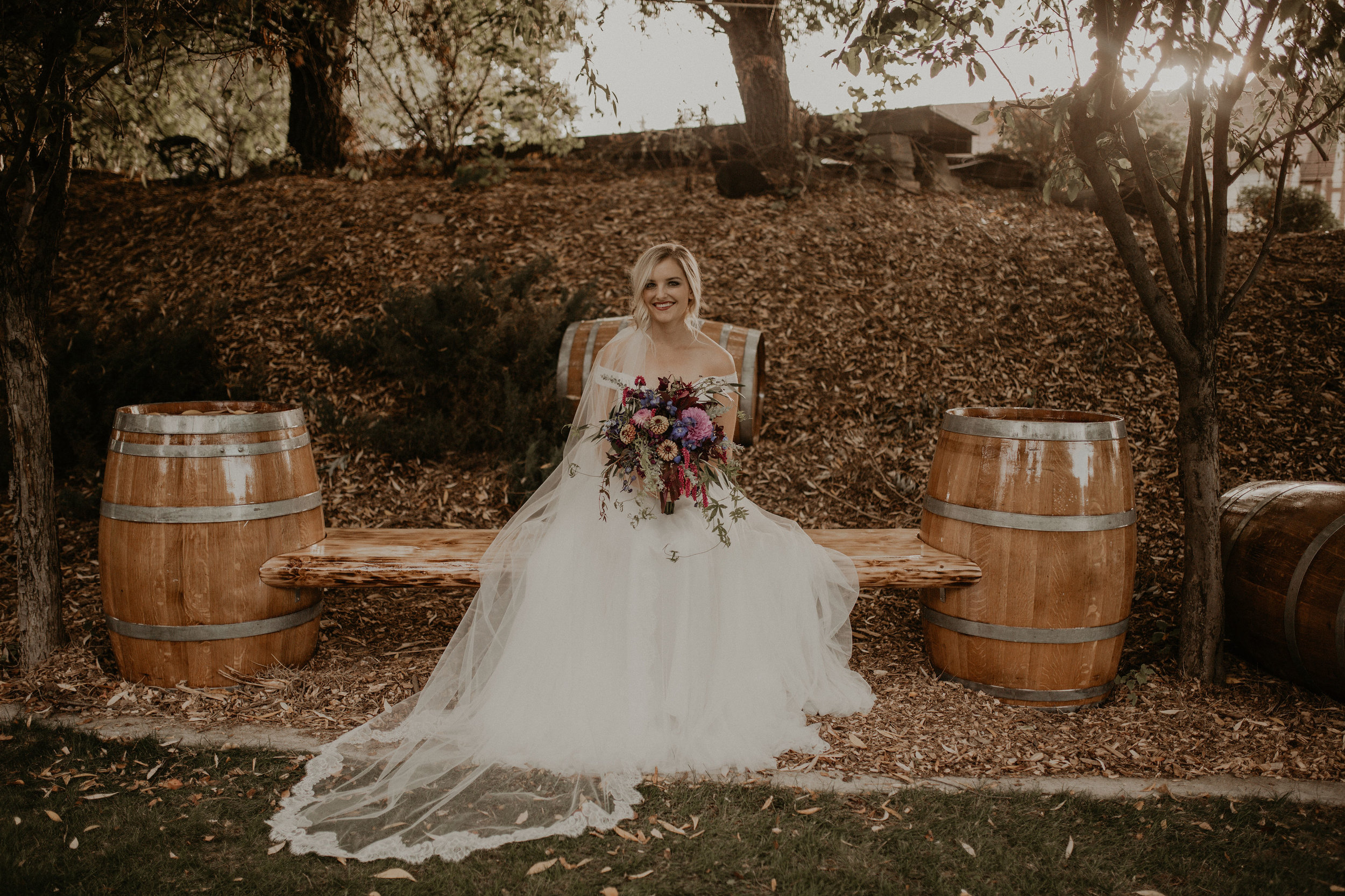 sitting rustic bride spokane wedding