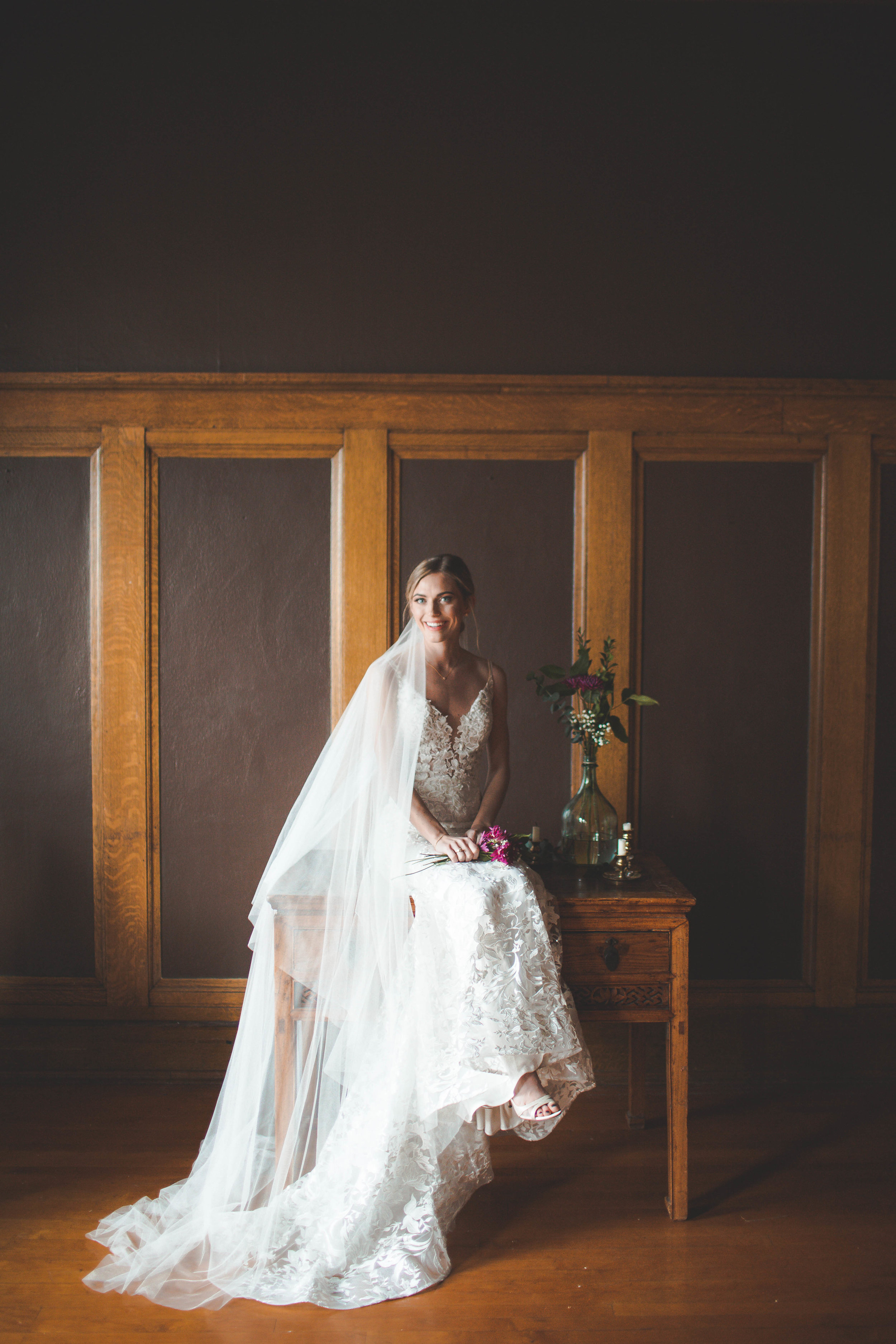 spokane bride wedding dress veil