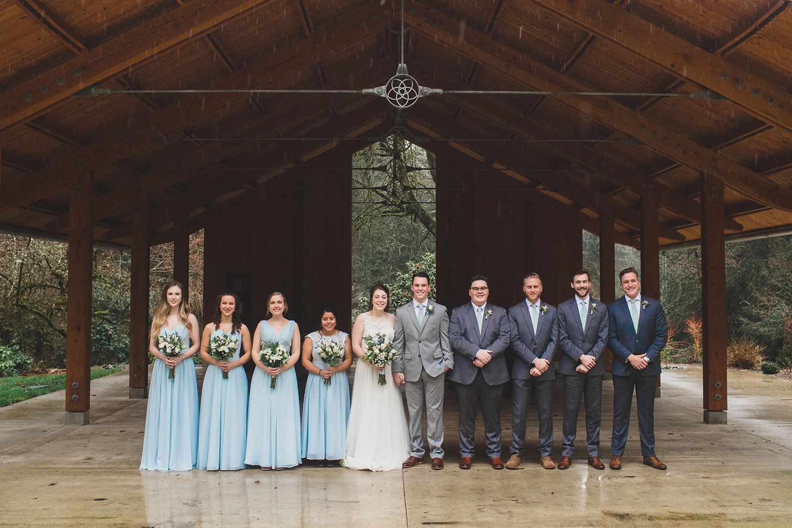 bridal party spokane bride wedding