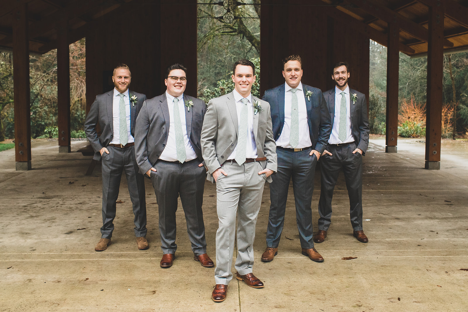 groomsmen spokane wedding bride