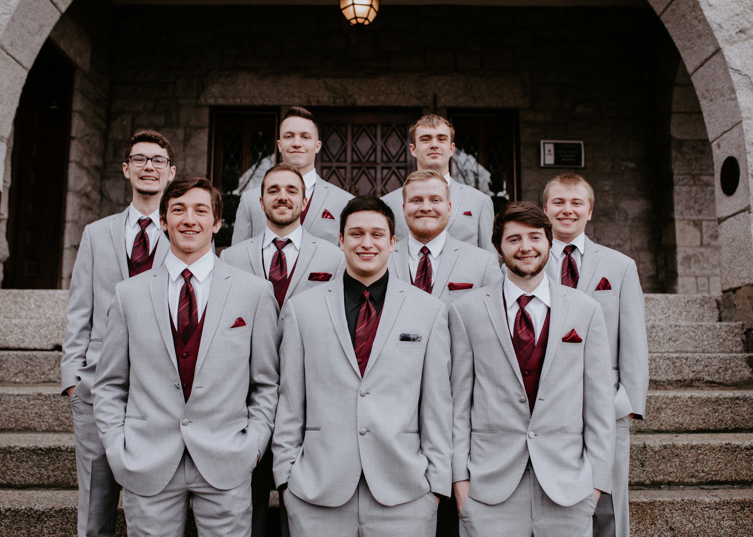 groomsmen picture spokane bride winter wedding