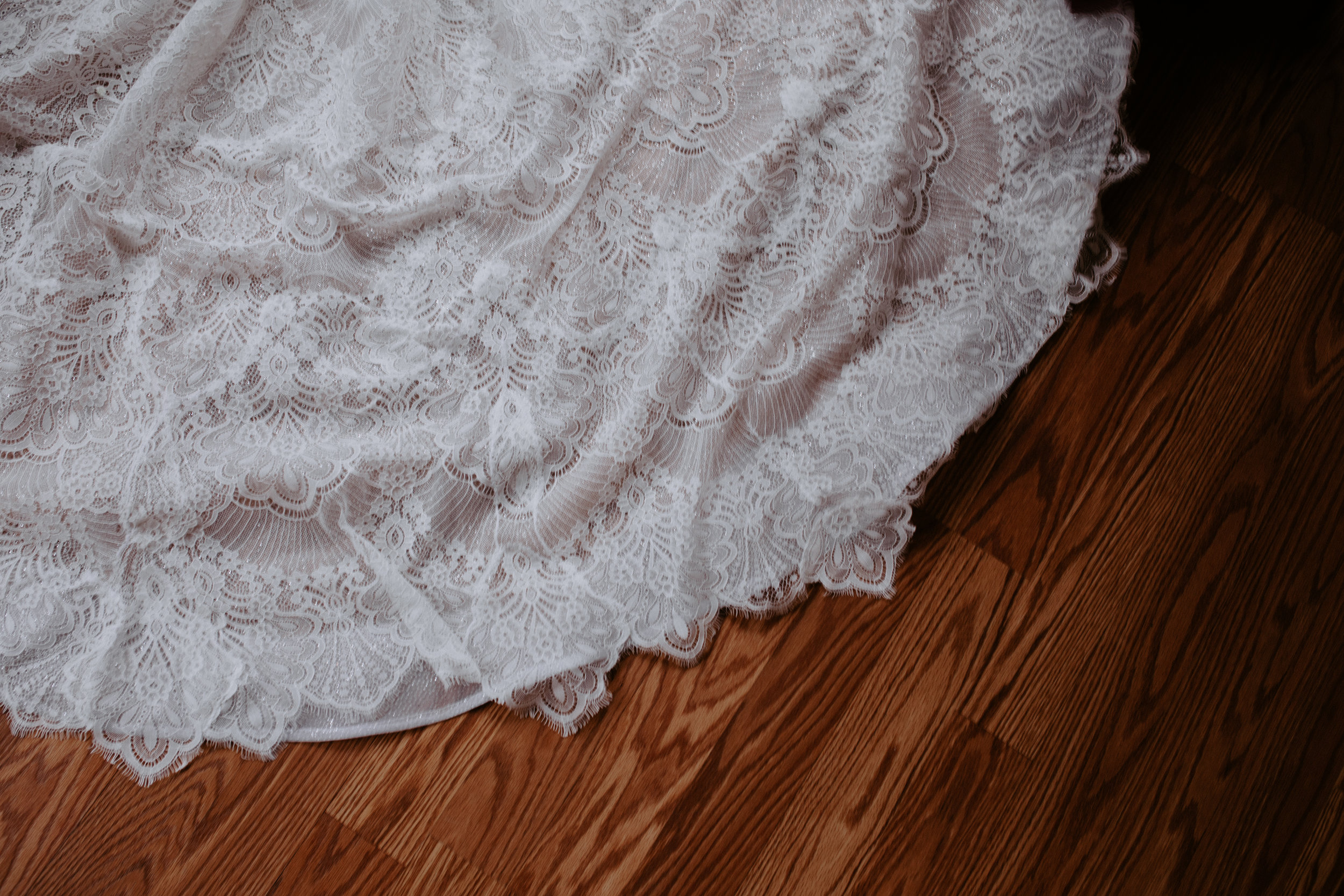 detail train bridal gown spokane wedding