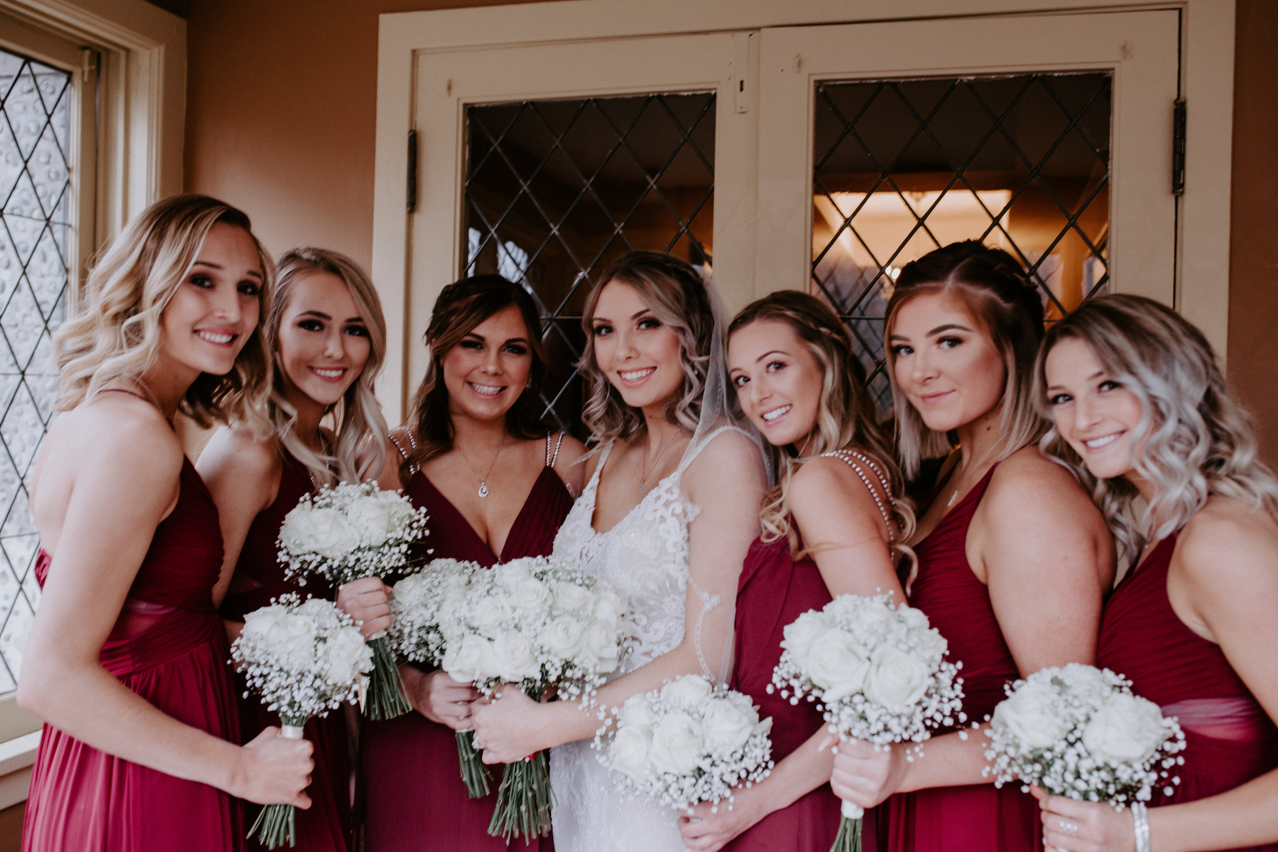 bridal party spokane wedding