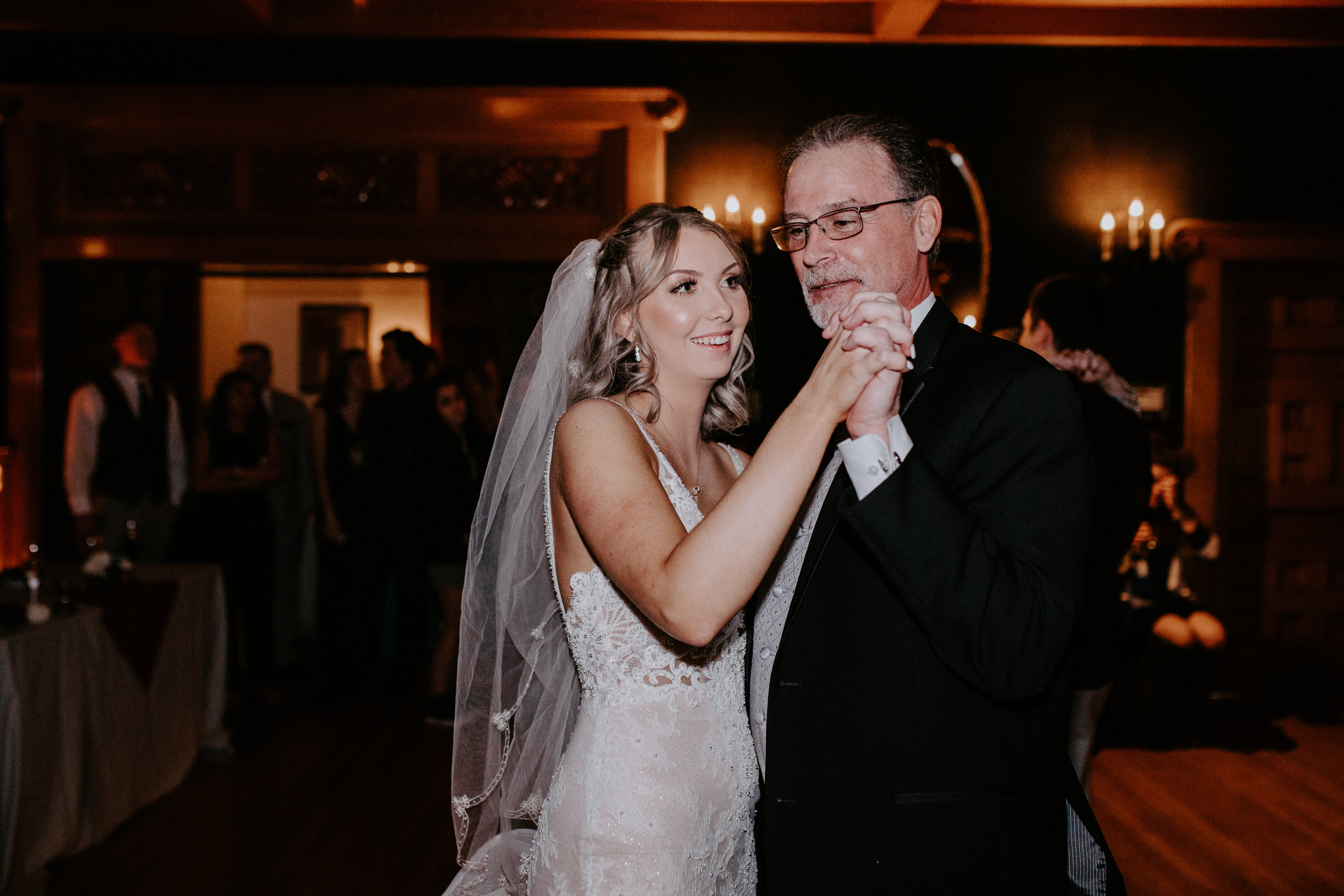 first dance bride and groom winter spokane wedding