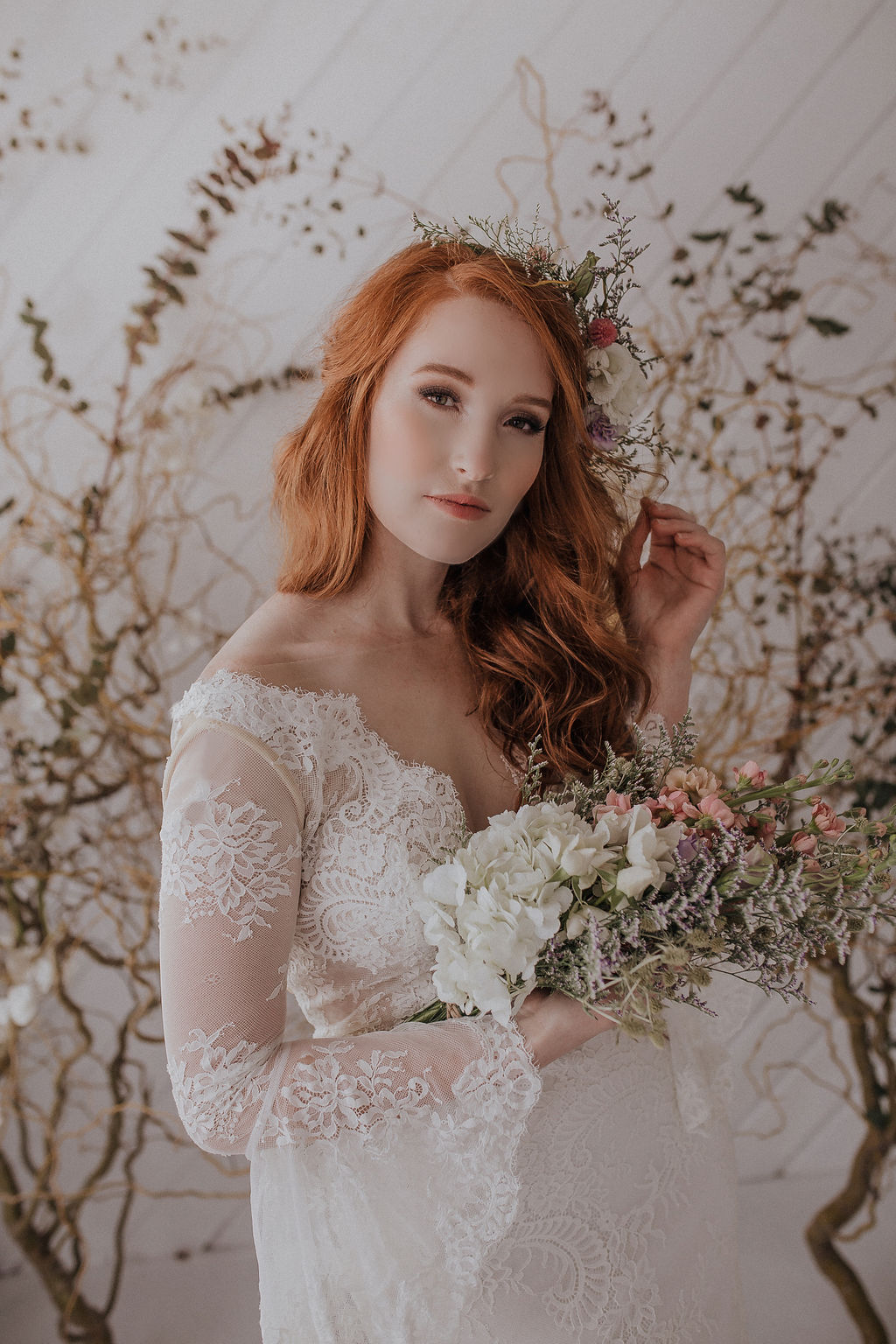 spring bride spokane wedding redhead