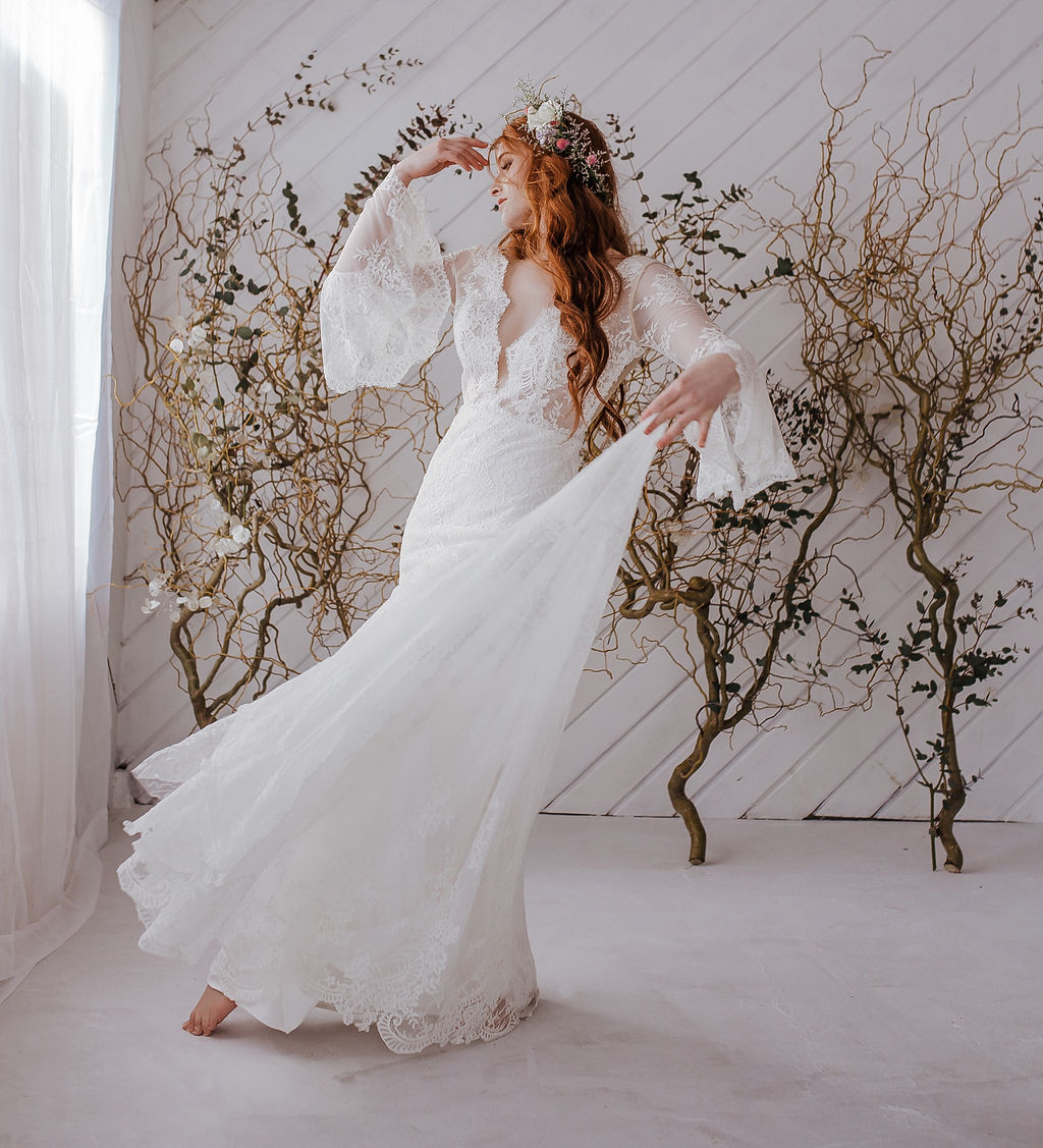 spin spokane bride boho wedding spring