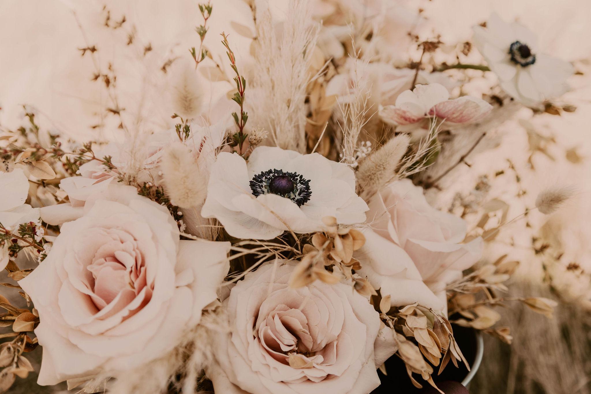 summer bridal bouquet spokane wedding