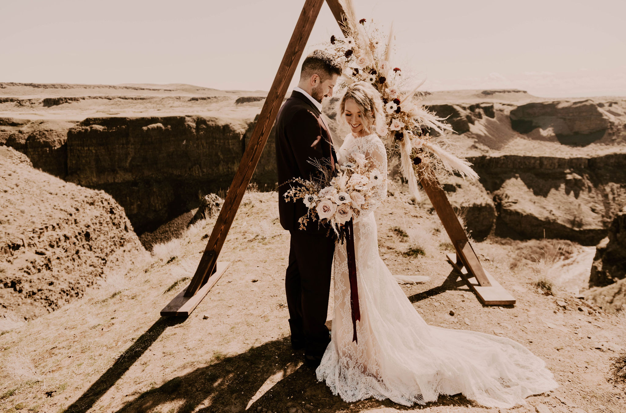 spokane summer bride honest in ivory gown